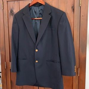Jos A Bank Men's Navy Wool Blazer